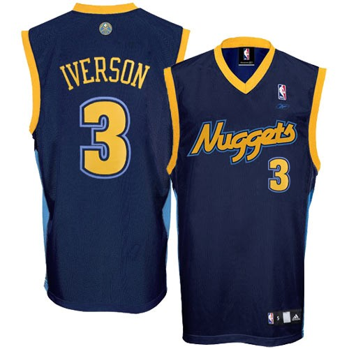 ... Adidas Denver Nuggets Toddler Navy Allen Iverson Swingman Jersey ... f6b91a20267d