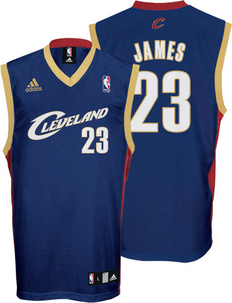 navy blue lebron james jersey