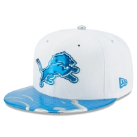 New Era Detroit Lions White 59Fifty High Profile 2017 Draft Day Spotlight Fitted Cap