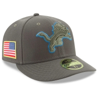 New Era Detroit Lions Green Low Profile 59Fifty 2017 Salute to Service Sideline Fitted Cap