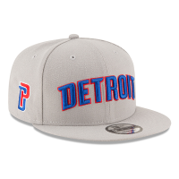 New Era Detroit Pistons Gray 9Fifty Statement Edition Snapback Cap