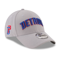 New Era Detroit Pistons Gray 9Forty Statement Edition Adjustable Cap