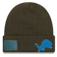 New Era Detroit Lions Army 2018 Salute to Service On-Field Cuff Knit