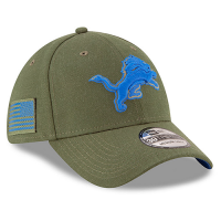 New Era Detroit Lions Heather Army 39Thirty 2018 Salute to Service On-Field Cap