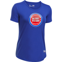 Under Armour Detroit Pistons Women's Royal NBA Combine Authentic Primary Logo Short Sleeve Tee