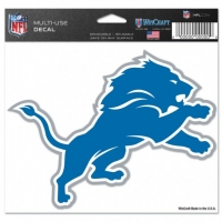 "Wincraft Detroit Lions Multi-Use Colored Decal 5"" x 6"""