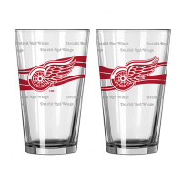Boelter Detroit Red Wings Satin Etch Pint Glass