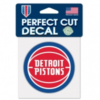 "Wincraft Detroit Pistons Perfect Cut Decal 4"" x 4"""