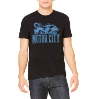 Motor City Bad Boys Black Motor City Vintage Lion Premium Tee