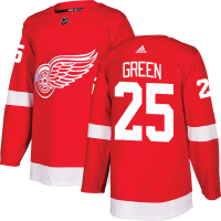 Adidas Detroit Red Wings Red Mike Green Authentic Pro Jersey
