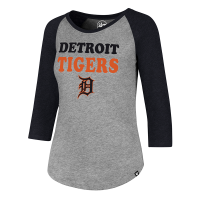 47 Brand Detroit Tigers Women's Slate Gray Club Raglan Tee