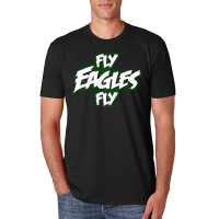 Fly Eagles Fly Black Tee