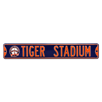 Authentic Street Signs Detroit Tigers Tiger Stadium Michigan & Trumbell Metal Street Sign