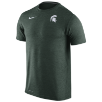 Nike Michigan State Spartans Heather Green Dri-FIT Touch Tee