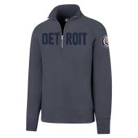 47 Brand Detroit Tigers Lake Blue Borderland II Striker 1/4 Zip Fleece