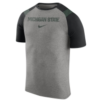 Nike Michigan State Spartans Dark Gray Heather Enzyme Shoulder Tee