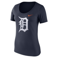 Nike Detroit Tigers Women's Navy Cotton Scoop Neck Logo Tee