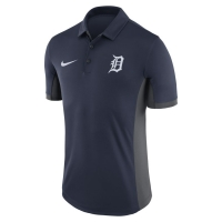 Nike Detroit Tigers Navy Knit Franchise Short Sleeve Polo