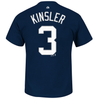 Majestic Detroit Tigers Youth Navy Ian Kinsler Name and Number Player Tee