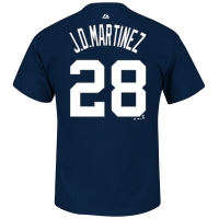 Majestic Detroit Tigers Youth Navy J.D. Martinez Name and Number Player Tee