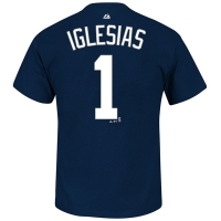 Majestic Detroit Tigers Youth Navy Jose Iglesias Name and Number Player Tee