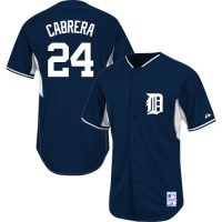 Majestic Detroit Tigers Youth Navy Miguel Cabrera Cool Base Batting Practice Replica Jersey