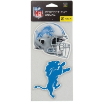 "Wincraft Detroit Lions Perfect Cut Decal Set of Two 4"" x 4"""