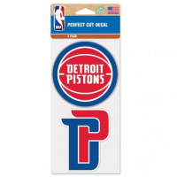 "Wincraft Detroit Pistons Perfect Cut Decal Set of Two 4"" x 4"""