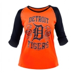 5th & Ocean Youth Detroit Tigers Orange Jersey 3/4 Sleeved Tee