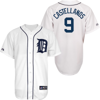 Majestic Detroit Tigers Youth Home White Nicholas Castellanos Replica Jersey