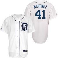 Majestic Detroit Tigers Youth Home White Victor Martinez Replica Jersey