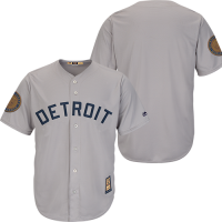 Majestic Detroit Tigers Road Gray '68 World Series 50th Anniversary Cool Base Replica Jersey