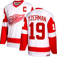 CCM Detroit Red Wings White Steve Yzerman Team Classics Jersey