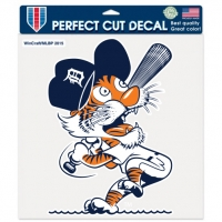 "Wincraft Detroit Tigers Cooperstown Swinging Kitty Perfect Cut Decal 8"" x 8"""