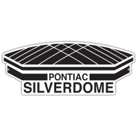 "Authentic Street Signs Pontiac Silverdome 12"" Steel Logo"
