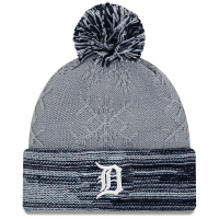 New Era Detroit Tigers Women's Gray Snow Crown Redux Knit Cap