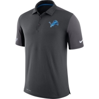 Nike Detroit Lions Anthracite Team Issue Dri-FIT Polo