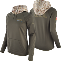 Nike Detroit Lions Women's Cargo Khaki 2017 Salute to Service Thermal Hoodie
