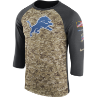 Nike Detroit Lions Anthracite 2017 Salute to Service Legend 3/4 Tee