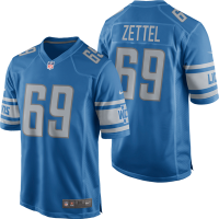 Nike Detroit Lions Blue Anthony Zettel 2017 Game Jersey