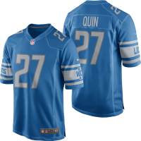 Nike Detroit Lions Blue Glover Quin 2017 Game Jersey