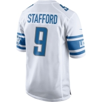Nike Detroit Lions White Matthew Stafford 2017 Game Jersey