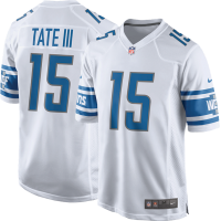Nike Detroit Lions White Golden Tate III 2017 Game Jersey