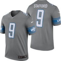 Nike Detroit Lions Dark Steel Gray Matthew Stafford 2017 Color Rush Legend Jersey