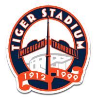 "Authentic Street Signs Detroit Tigers Tiger Stadium Michigan & Trumbell 36"" Steel Logo"
