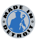 Made In Detroit Gray with Blue Sticker