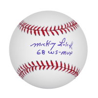 Detroit Tiger Mickey Lolich Autographed Official MLB Baseball w/ Inscription