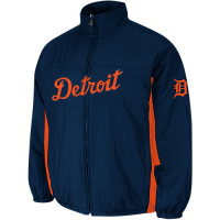 Majestic Detroit Tigers Night Navy Road On-Field Triple Climate 3-In-1 Jacket