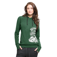 47 Brand Women's Michigan State Spartans Shift Pine Forward '47 Side Point Hood