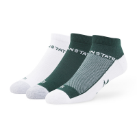 47 Brand Michigan State Spartans Team Color 3 Pack Rush '47 Motion Sock